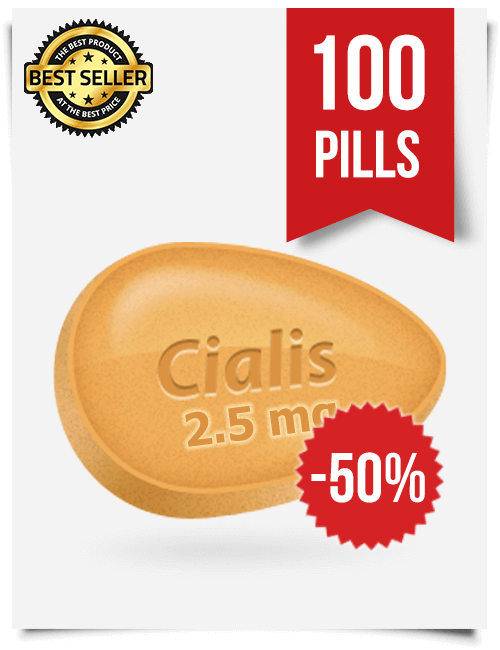 Cialis 2.5 mg Online x 100 Tablets