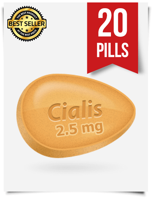 Cialis 2.5 mg Online x 20 Tablets