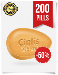 Cialis 2.5 mg Online x 200 Tablets