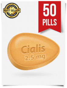 Cialis 2.5 mg Online x 50 Tablets