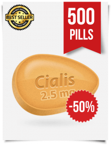 Cialis 2.5 mg Online x 500 Tablets