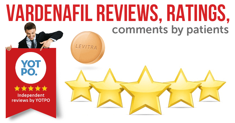 Vardenafil Reviews, Ratings, Comments by Patients