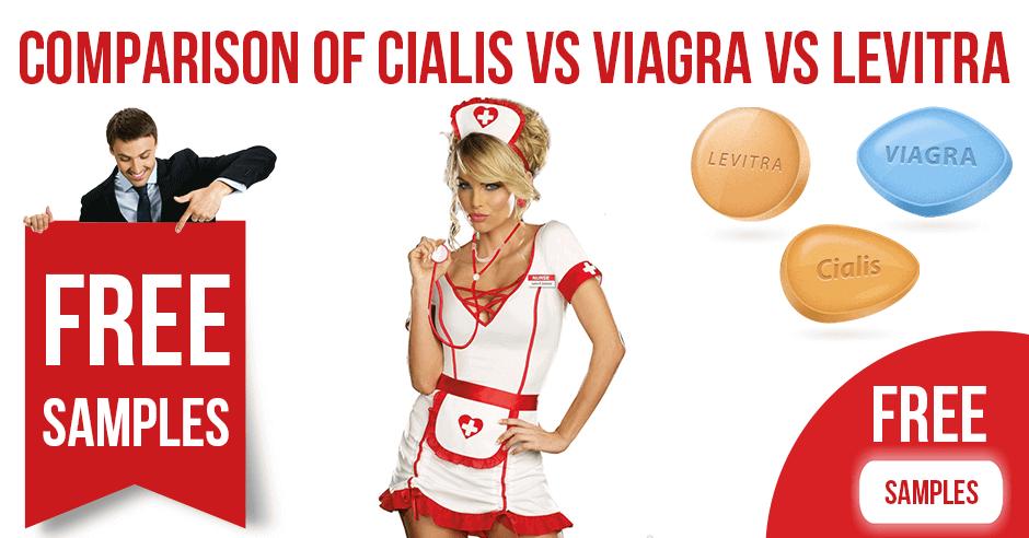 Comparison of Cialis vs Viagra vs Levitra