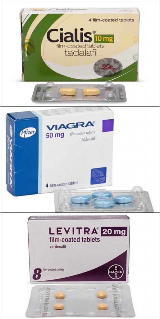 Cialis, Levitra and Viagra