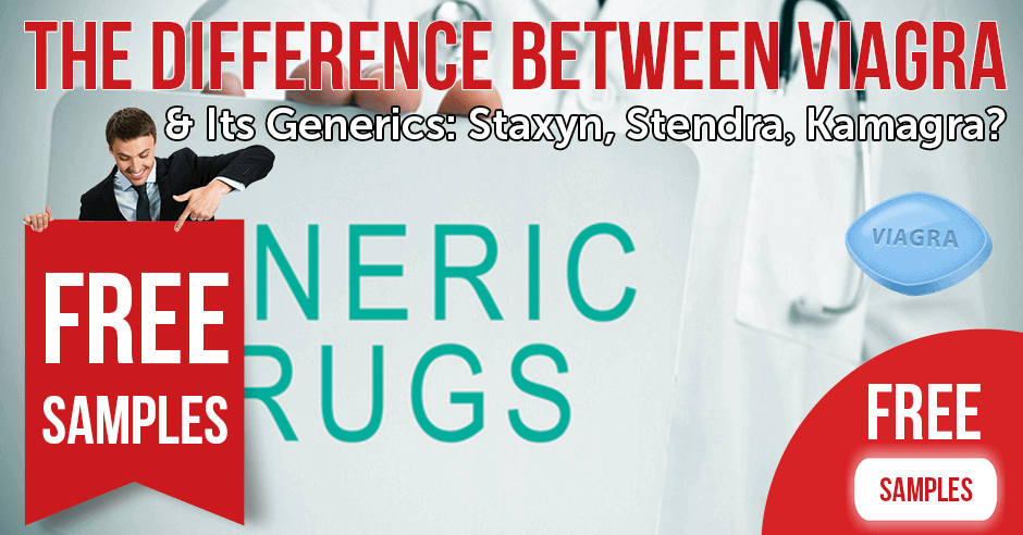 What's the difference between Viagra and its generics: Staxyn, Stendra & Kamagra