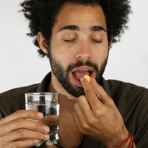 Man takes vardenafil tablet